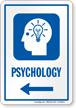 Psychology Left Arrow Hospital Sign
