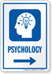 Psychology Right Arrow Hospital Sign