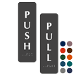 Pull/Push Vertical Set Tactile Touch Braille Door Sign