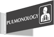 Pulmonology Corridor Projecting Sign