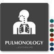 Pulmonology Braille Hospital Sign with Respiratory Symbol