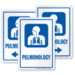 Pulmonology Pulmonary Hospital Sign with Respiratory Symbol