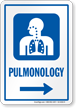 Pulmonology Right Arrow Hospital Sign