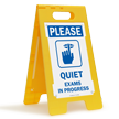 Please Quiet, Exams In Progress Standing Floor Sign