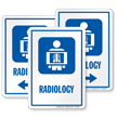 Radiology Hospital Radiation Sign with X-Ray Image Symbol