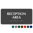 Reception Area Tactile Touch Braille Sign