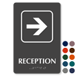 Reception Right Arrow TactileTouch™ Sign with Braille