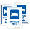 Recovery Room Hospital Sign