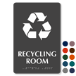 Recycling Room Symbol TactileTouch™ Sign with Braille