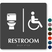 Restroom TactileTouch Braille Sign