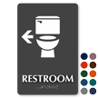 Restroom With Arrow TactileTouch Braille Sign