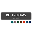 Restrooms Tactile Touch Braille Sign