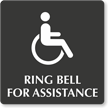 Ring Bell For Assistance Engraved Sign
