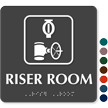 Riser Room TactileTouch™ Sign with Braille
