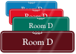 Room Letter D ShowCase Wall Sign