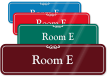 Room Letter E ShowCase Wall Sign