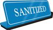 Sanitized ShowCase Desk Sign