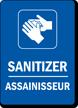 Sanitizer Bilingual Hand Washing Sign