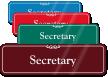 Secretary ShowCase Wall Sign