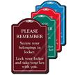 Secure Your Belongings In Locker ShowCase Sign