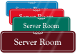 Server Room ShowCase Wall Sign