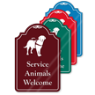 Service Animals Welcome ShowCase Sign