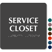 Service Closet ADA TactileTouch™ Sign with Braille