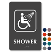 ADA Shower TactileTouch™ Braille Symbol Sign