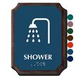 Shower Braille TactileTouch Wooden Plaque