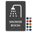 Shower Room Tactile Touch Braille Sign