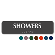 Showers Tactile Touch Braille Sign