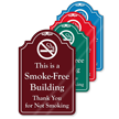 Smoke Free Building ShowCase Sign