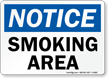 Notice: Smoking Area