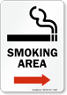 Smoking Area (arrow right) - vertical
