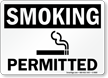 Smoking Permitted with symbol (black text)
