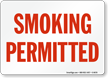 Smoking Permitted (red text)