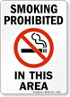 Smoking Prohibited In This Area (symbol) Sign