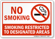 No Smoking. Smoking Restricted Sign