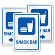 Snack Bar Sign with Symbol