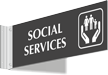 Social Services Corridor Projecting Sign