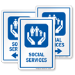 Social Services Hospital Sign