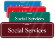 Social Services ShowCase Wall Sign