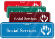 Social Services Hospital Showcase Sign