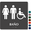 Bano Spanish Braille Restroom Sign