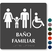 Bano Familiar Spanish Braille Restroom Sign