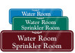 Water Sprinkler Room Sign