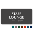 Staff Lounge TactileTouch Braille Sign