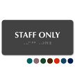 Staff Only Tactile Touch Braille Sign