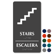 Bilingual Stairs Escalera Braille Sign