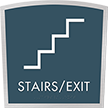 Stairs Exit Apex Regulatory Sign